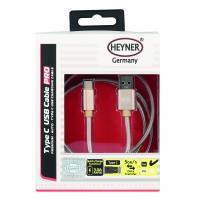 Kabel nabíjecí HEYNER Typ C 3.0 USB zlatý 1m 511330