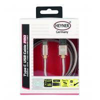 Kabel nabíjecí HEYNER Typ C 3.0 USB zlatý 2m 511380