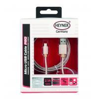 Kabel nabíjecí HEYNER Micro USB zlatý 2m 511580