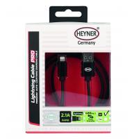 Kabel rychlonabíjecí HEYNER USB černý 1m 511730