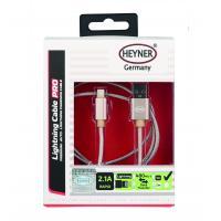 Kabel rychlonabíjecí HEYNER USB zlatý 1m 511760