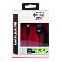 Kabel rychlonabíjecí HEYNER USB černý 2m 511770