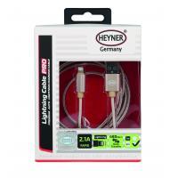 Kabel rychlonabíjecí HEYNER USB zlatý 2m 511790